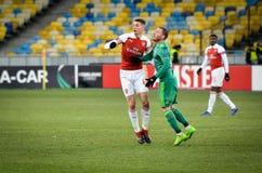 KIEV, UKRAINE - 29 novembre 2018 : Joueur de football pendant la correspondance d'UEFA Europa League entre Vorskla Poltava contre photo libre de droits