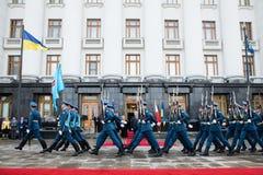 Petro Poroshenko and Maltese President Marie Louise Coleiro Prec Royalty Free Stock Image