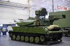 Antiaircraft missile system at the exhibition Stock Photography
