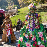 KIEV, UKRAINE - OCTOBER11: Chrysanthemumsr Show Landscape Park i Royalty Free Stock Photography