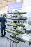 Guided anti-tank and anti-aircraft missiles at the exhibition Stock Photography