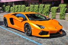 Kiev, Ukraine; October 17, 2016; Lamborghini Aventador on the streets stock photos