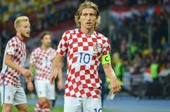 KIEV, UKRAINE - October 09, 2017: Luka Modric during the FIFA World Cup 2018 qualifying Europe match between Ukraine national tea royalty free stock photos