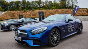 Kiev, Ukraine - OCTOBER 4, 2016: Mercedes Benz star experience. The interesting series of test drives Stock Images