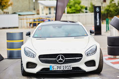 Kiev, Ukraine - OCTOBER 4, 2016: Mercedes Benz star experience. The interesting series of test drives Royalty Free Stock Photo