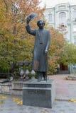 Kiev, Ukraine - October 22, 2016: Monument to the famous Jewish writer Yiddish Sholom Aleichem Royalty Free Stock Images