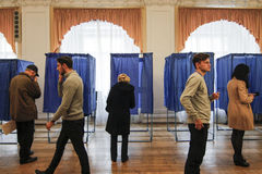 KIEV,UKRAINE - October 25, 2015: Regularly scheduled local elections in Ukraine. Royalty Free Stock Photo