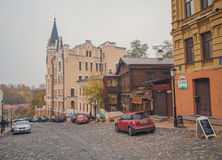 Kiev, Ukraine - October 22, 2015: Street Andrew's descent Stock Photography
