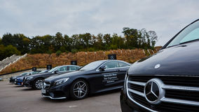 Kiev, Ukraine - 4 octobre 2016 : Expérience d'étoile de Mercedes Benz La série intéressante de commandes d'essai Photo libre de droits