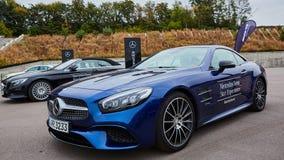 Kiev, Ukraine - 4 octobre 2016 : Expérience d'étoile de Mercedes Benz La série intéressante de commandes d'essai Images stock
