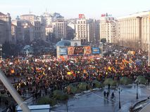 Kiev, Ukraine - 03.12.2004. The Orange Revolution in Kiev. royalty free stock photo