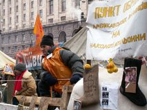 Kiev, Ukraine - 03.12.2004. The Orange Revolution in Kiev. stock image