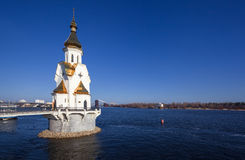 Kiev. Ukraine. Orthodox church on Dnepr river in Kiev. Ukraine royalty free stock image