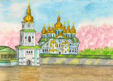 Kiev, Ukraine, painting Royalty Free Stock Images