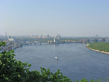 Kiev, Ukraine. Panorama of Dnepr Stock Images