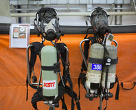 Kiev, Ukraine Sep 24, 2015: Fireman Equipment. XII International. Specialized Exhibition ARMS AND SECURITY – 2015 Royalty Free Stock Photography