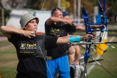 Invictus Games - training of the national Ukrainian team Stock Image