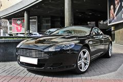 Kiev, Ukraine; September 20, 2015; Aston Martin DB9. English supercar royalty free stock photo
