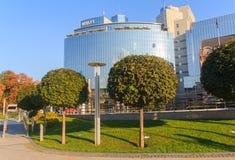 Kiev, Ukraine - September 14, 2014: Elite Hotel Hyatt in downtown Stock Photo