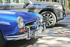 Kiev, Ukraine; September 20, 2017, Mercedes-Benz 190 SL 1959. Royal supercar. Retro car stock photography