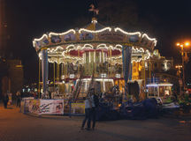 Kiev, Ukraine - September 9, 2013: Traditional carousel Kiev street Khreshchatyk Stock Image