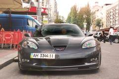 Kiev, Ukraine - 6 septembre 2013 : Chevrolet Corvette ZR1 dans la ville image stock