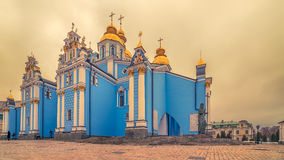 Kiev, Ukraine: St Michael`s Golden-Domed Monastery and Cathedral Stock Photos