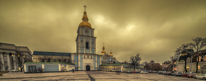 Kiev, Ukraine: St Michael`s Golden-Domed Monastery and Cathedral Royalty Free Stock Photography