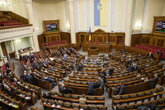 KIEV, UKRAINE.  Verkhovna Rada of Ukraine Stock Photography