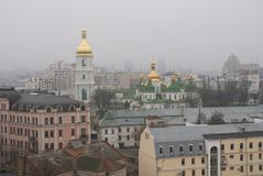 Kiev, Ukraine. View from above the old center. Stock Photo