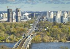 Kiev. Ukraine. View of the city of Kiev and the Dnieper River Royalty Free Stock Photography