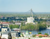 Kiev. Ukraine. View of the Moscow bridge from a height Royalty Free Stock Images
