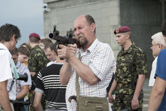 KIEV, UKRAINE, weapons Stock Photography