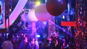 KIEV, UKRAINE - Yanuary 11, 2017: People dancing at the night club stock video footage