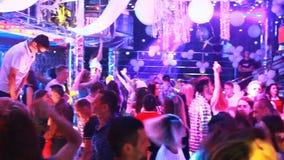 KIEV, UKRAINE - Yanuary 11, 2017: People dancing at the night club stock video