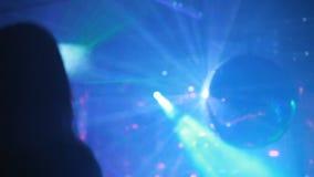 KIEV, UKRAINE - Yanuary 11, 2017: Sexy young girl dancing at the night club stock video