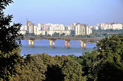 Kiev - una capitale dell'Ucraina di estate Fotografia Stock Libera da Diritti