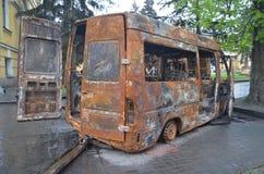 Kiev under occupation of catholic peasants from Western Ukraine Stock Photo