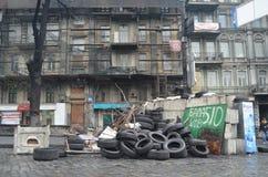 Kiev under occupation of catholic peasants from Western Ukraine Stock Photography