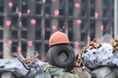 Kiev under occupation of catholic peasants from Western Ukraine Royalty Free Stock Photo