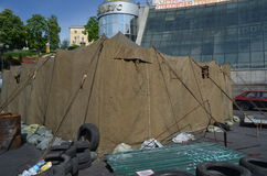Kiev under ockupation av katolska bönder från västra Ukraina arkivfoton