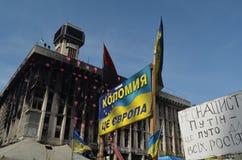 Kiev under ockupation av katolska bönder från västra Ukraina royaltyfria bilder