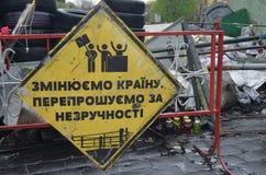 Kiev under ockupation av katolska bönder från västra Ukraina royaltyfri foto