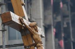 Kiev under ockupation av katolska bönder från västra Ukraina royaltyfri bild