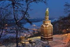 Kiev view with Saint Vladimir Royalty Free Stock Photos
