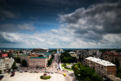Kiev. View of the square in the city Royalty Free Stock Images