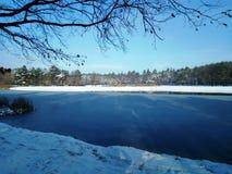 Kiev vinter sjö Arkivfoton