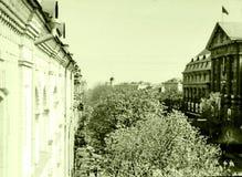 Kiev the Vladimirskaya street May 1964. The Vladimirskaya street in Kiev, Ukraine, May, 1964 Royalty Free Stock Photo