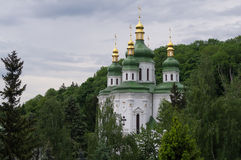 Kiev. Vudubickiy. View Vudubickiy , Kiev Orthodox Church Royalty Free Stock Image