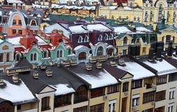 Kiev at winter. Elite district of Kiev at winter Royalty Free Stock Photos